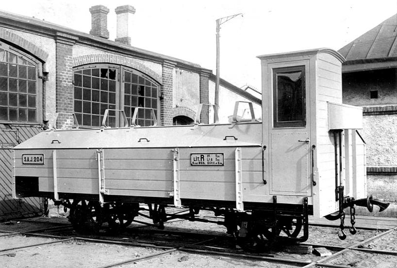 SAJ 204 en kalkvagn levererad av Waggonfabriken i Arlöv, Skåne för kalktransporter för Persbergs(Gullhögen) & Carlsro kalkbrott. (Skövde Stadsmuseum)