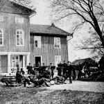 Haldan Lindencrona vid krysset i Axvalla hed. Garnisonmuseet 1355-1681