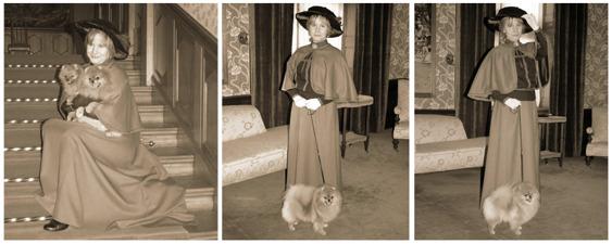 """Chanel, Fame och Indy träffade """"Grevinnan Blanche Bonde"""" hösten 2013"""