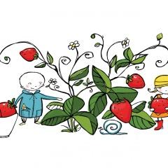 Trädgårdsmästaren - Jordgubbsplock