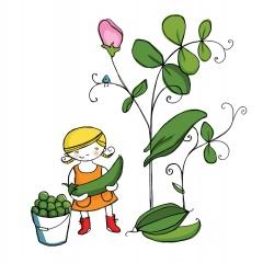 Trädgårdsmästaren - Mini plockar ärtor