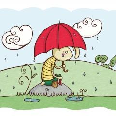 Kaninen - det regnar min vän