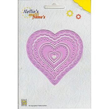 Nellies Multi Frame Die - Heart 2 -