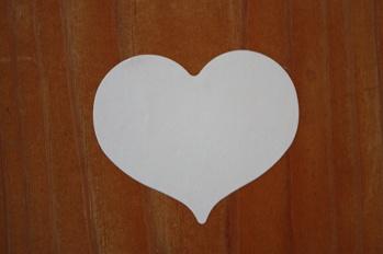 Klisterhjärta vit -