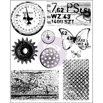 Prima Finnabair Cling Stamp - Rust & Dust 962050 -