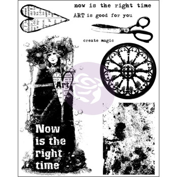 Prima Finnabair Cling Stamp - Now Is The Right Time 962067 -