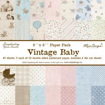 Maja design 6x6 block Vintage baby -