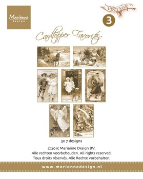 MARIANNE DESIGN MD VINTAGE CARD TOPPERS CT1503 -