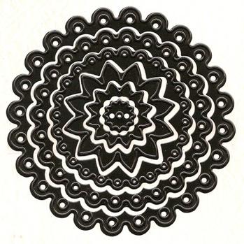 Nellies Multi Frame Die - Dots Circle -