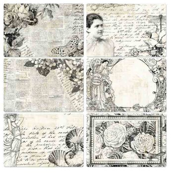 4x6 Pocket Paintable Cards - Classic Memories 12/bag -