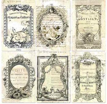 4x6 Pocket Paintable Cards - Nostalgic Reflections 12/bag -