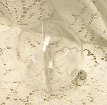 Julkula i plast, 6 cm,  delbar 5-pack -