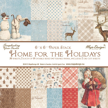 Home for the Holidays - Paper stack 6x6 -