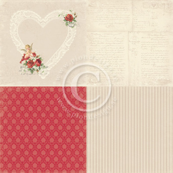 In my heart - To my Valentine - 6x6 -