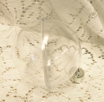 Julkula i plast, 5 cm, delbar -