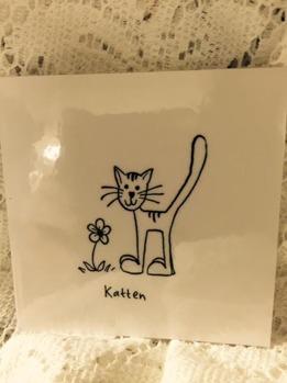 Omonterad stämpel: Katten -