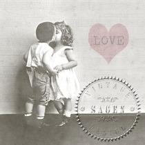 Nr 65 Sagen vintage design 1 st servett