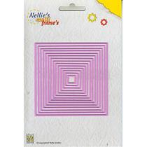 Nellies Multi Frame Dies - Straight Square