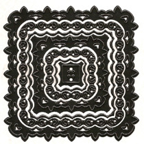 NS - Nellies Multi Frame Die - Square Lilly