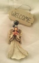 Välkommen skylt Ängel