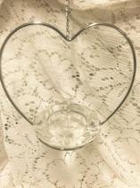 Hjärta med värmeljushållare i kristall