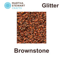 Hobbyfärg glitter Brownstone