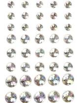 Halvpärlor kristall vita