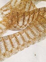 Band, guld med glitter, ca 4 cm bredd