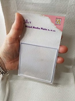 Fyrkantig Mixed Media platta från NellieSnellen -