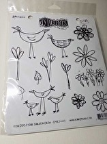 Dyan Reaveley's Dylusions Cling Stamp Collection - How Does Your Garden Grow