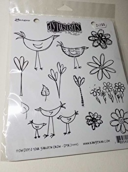 Dyan Reaveley's Dylusions Cling Stamp Collection - How Does Your Garden Grow -