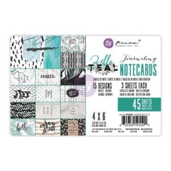 Prima Journaling Cards 4X6 45/Pkg - Zella Teal -