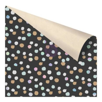 Prima Zella Teal Double-Sided Cardstock 12X12 - Offset Dot -