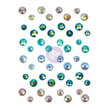 Prima Say It In Crystal Adhesive Embellishments - Zella Teal -
