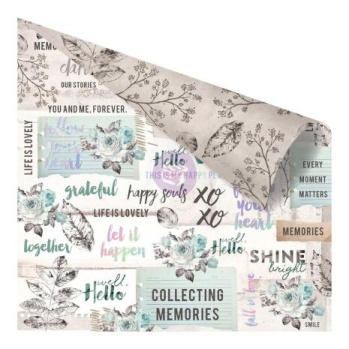 Prima Zella Teal Double-Sided Cardstock 12X12 - Collect Memories -