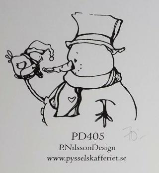 Omonterad gummistämpel PD405 -