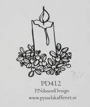 Omonterad gummistämpel PD412