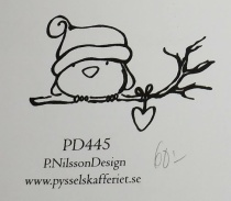 Omonterad gummistämpel PD445