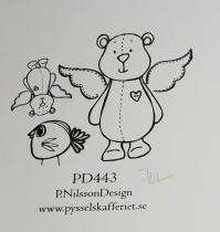 Omonterad gummistämpel PD443
