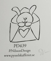 Omonterad gummistämpel PD439