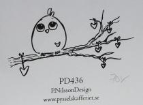 Omonterad gummistämpel PD436