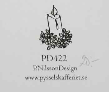 Omonterad gummistämpel PD422 -