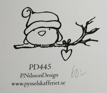 Omonterad gummistämpel PD445 -