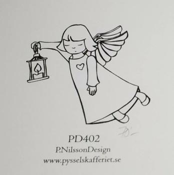 Omonterad gummistämpel PD402 -