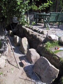 Nya stenar av stööre storlek än tidigare.