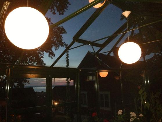 Kvällsmiljö i paviljongen