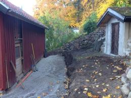 Första grävning och dränering 11 okt.