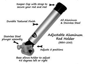 Justerbar spöhållare i aluminium