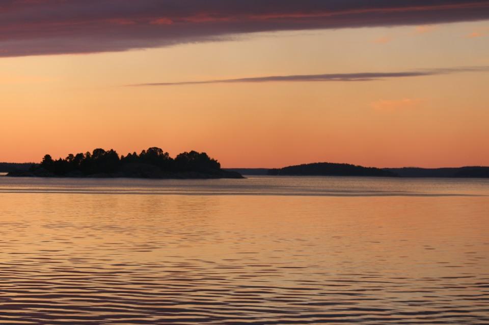 Underbar kväll med utsikt över Himmerfjärden