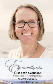 Auktoriserad redovisningskonsult Elisabeth Svensson Ekonomibyrån i Halmstad